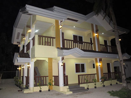 celtis resort exterior view by night